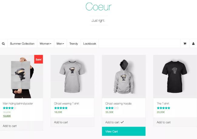 Coeur eCommerce WordPress Themes