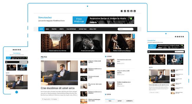 NewsAnchor Free Magazine WordPress Themes