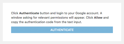 Authenticate Your Google Analytics Account
