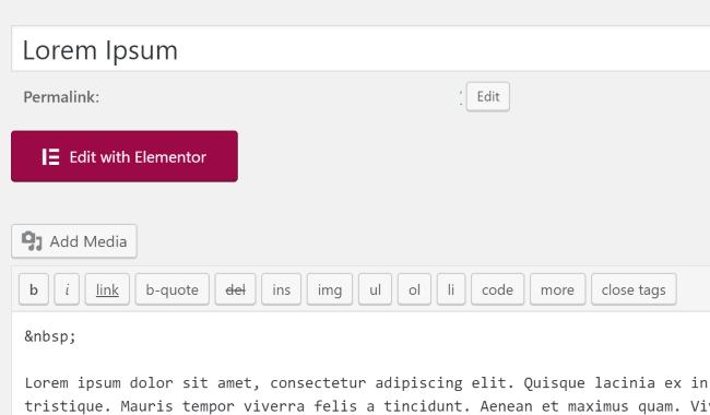 Elementor Editor Button