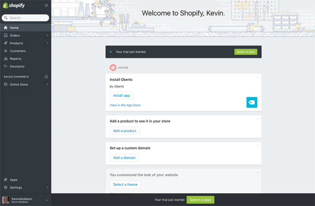 Shopify Home Page