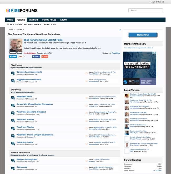 Rise Forums Old Forum Design