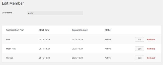 Multiple Subscriptions Per User