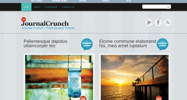 Journal Crunch Drupal Theme