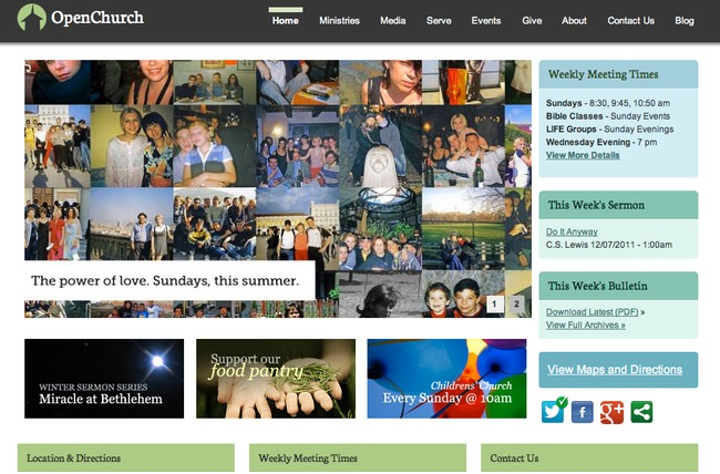 OpenChurch Drupal Theme