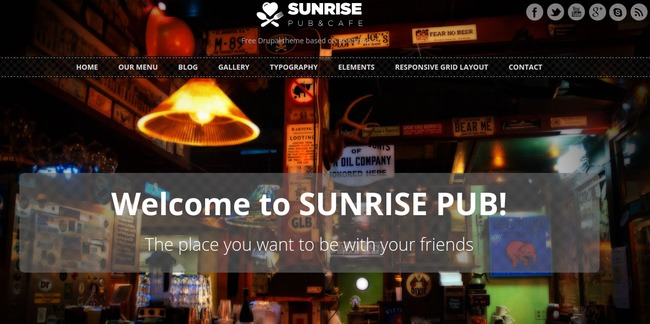 Sunrise Drupal Theme