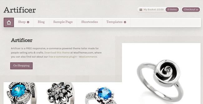 Artificer WordPress Theme
