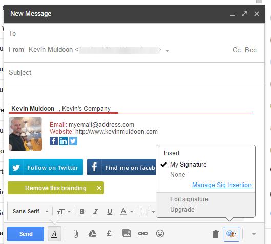 Gmail Signature Example