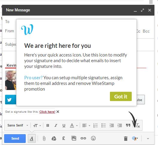 Gmail Help Message