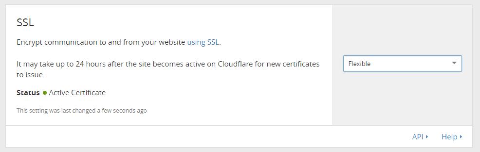 Set SSL to Flexible