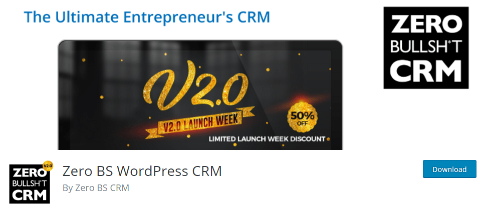Zero BS WordPress CRM on WordPress.org