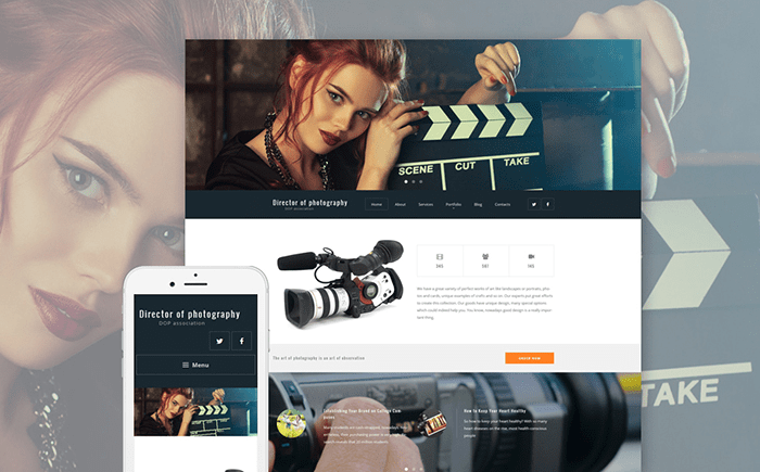 Director of Photography WordPress Theme