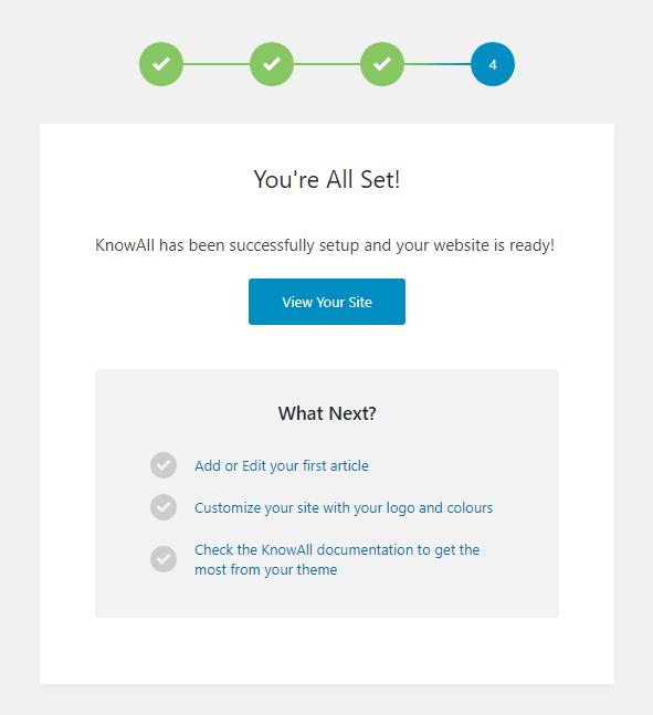 KnowAll Setup Step 4
