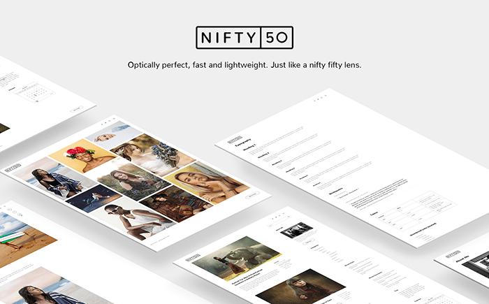 Niftyfifty - Photography WordPress Theme