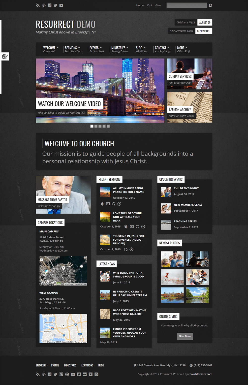 Resurrect WordPress Theme
