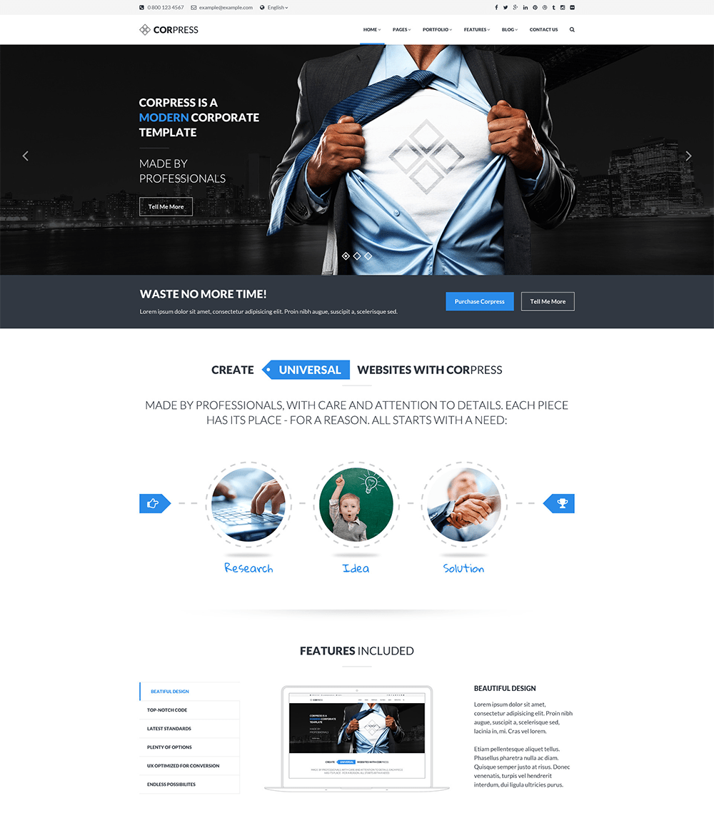 Corpress Business WordPress Theme