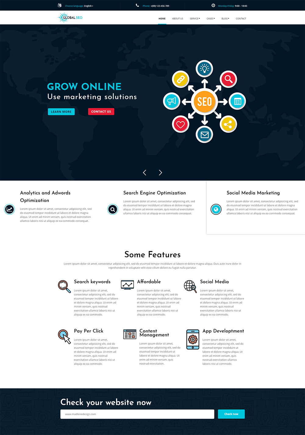 Global SEO - Marketing And Responsive WordPress Theme