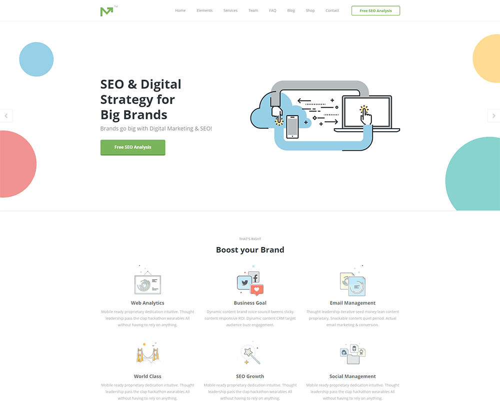 Marketing Pro SEO Business WordPress Theme