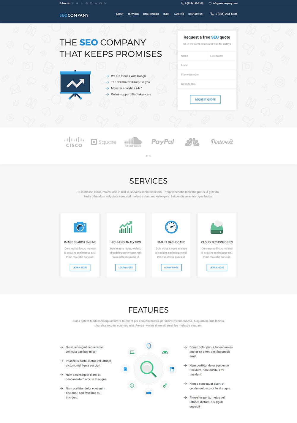 SEO Company - Marketing & SEO WordPress Theme