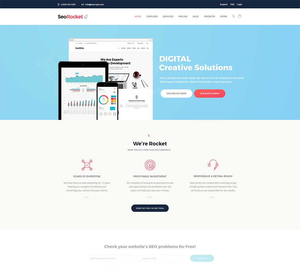 Seo Rocket - SEO & Marketing WordPress Theme