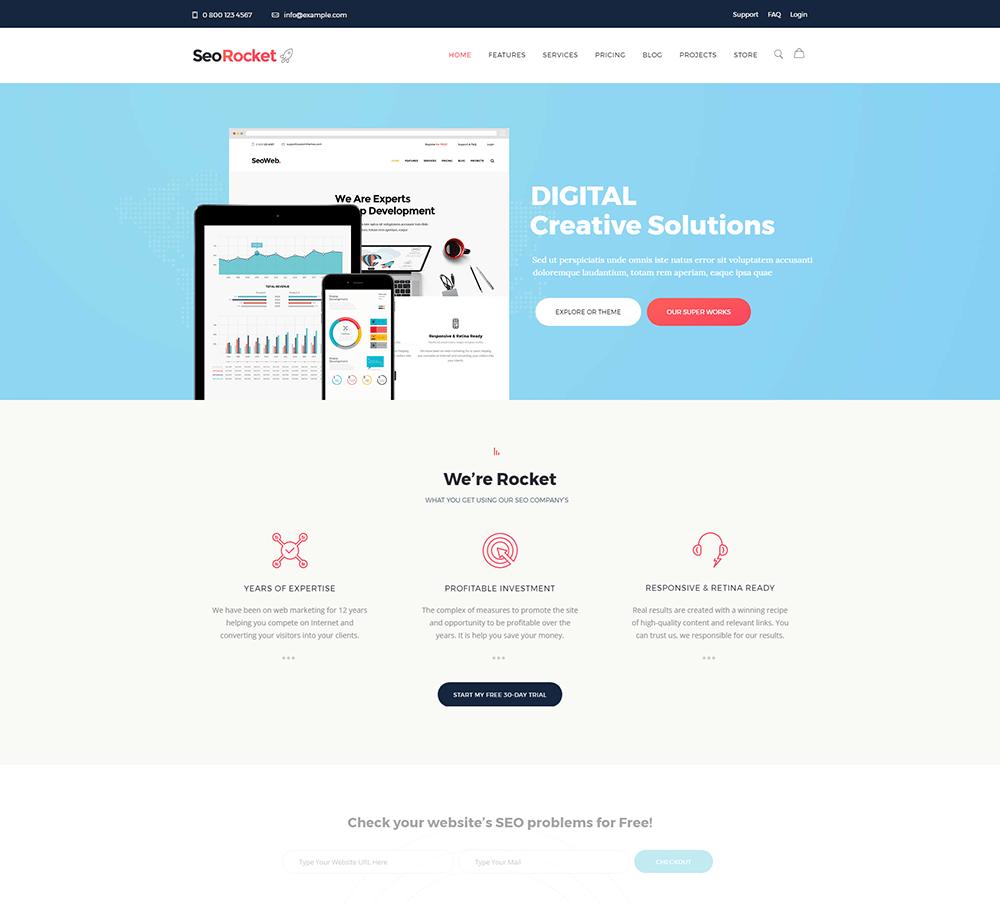 Seo Rocket - SEO & Marketing WordPress Theme