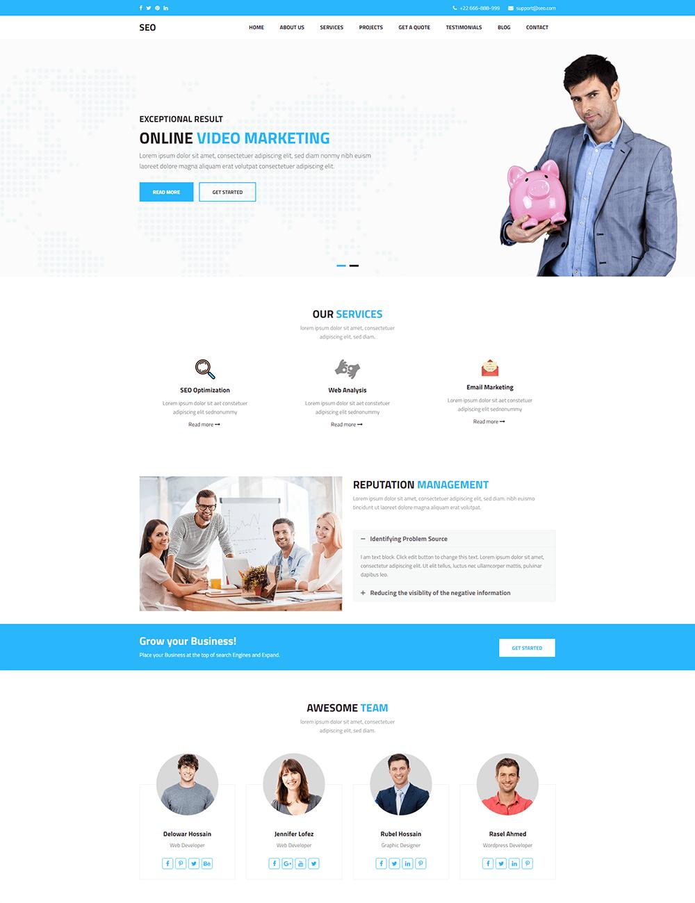 SEO - Marketing & SEO WordPress Theme