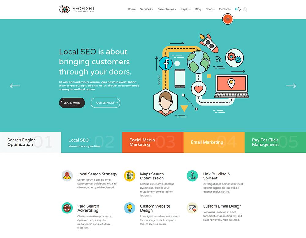 Seosight - SEO, Digital Marketing Agency WordPress Theme