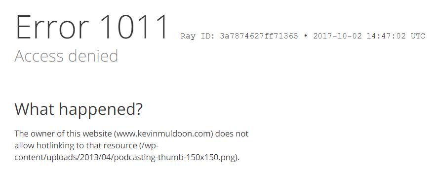 Cloudflare Error 1011