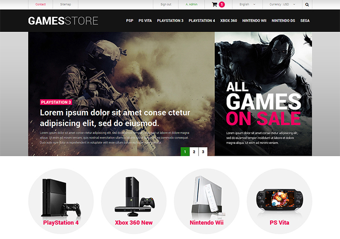 GameStore PrestaShop Theme