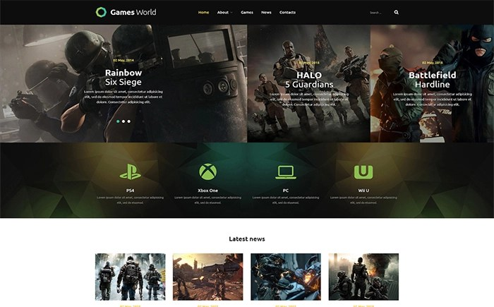 GamesWorld - Awesome Game Portal Joomla Template