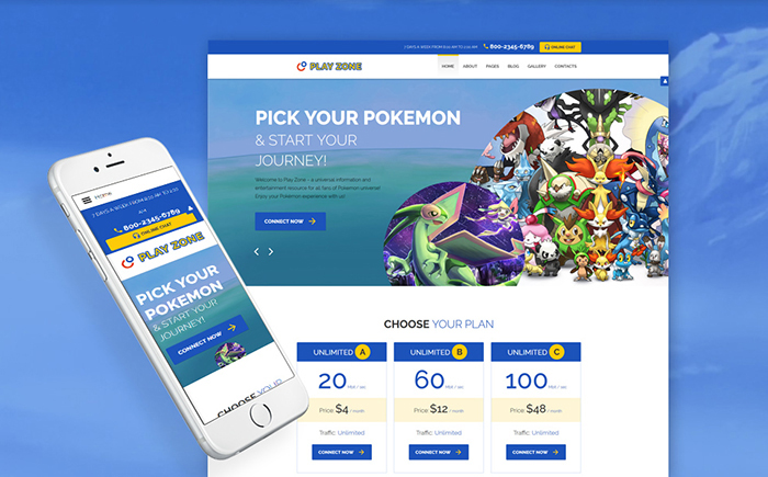Play Zone Joomla Template