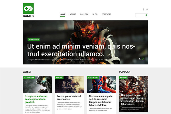 True Gaming Joomla Template