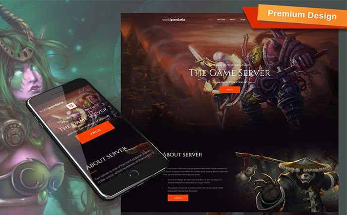 WorldPandaria - Game Portal Moto CMS 3 Template