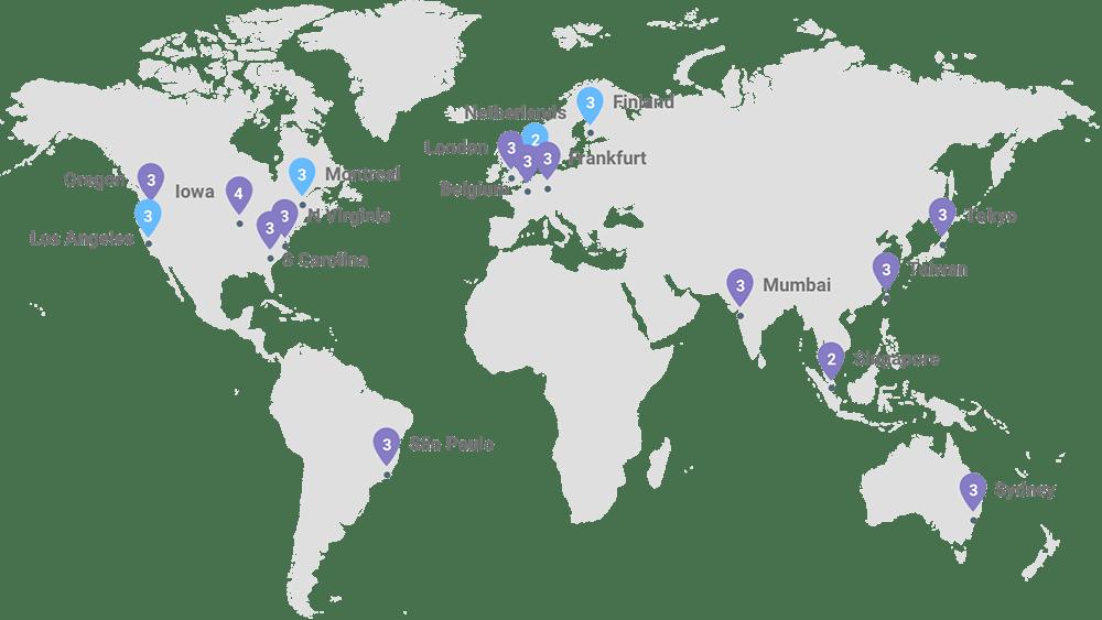 Google Cloud Centres