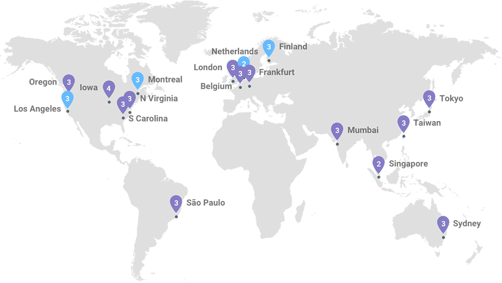 Google Cloud Centres