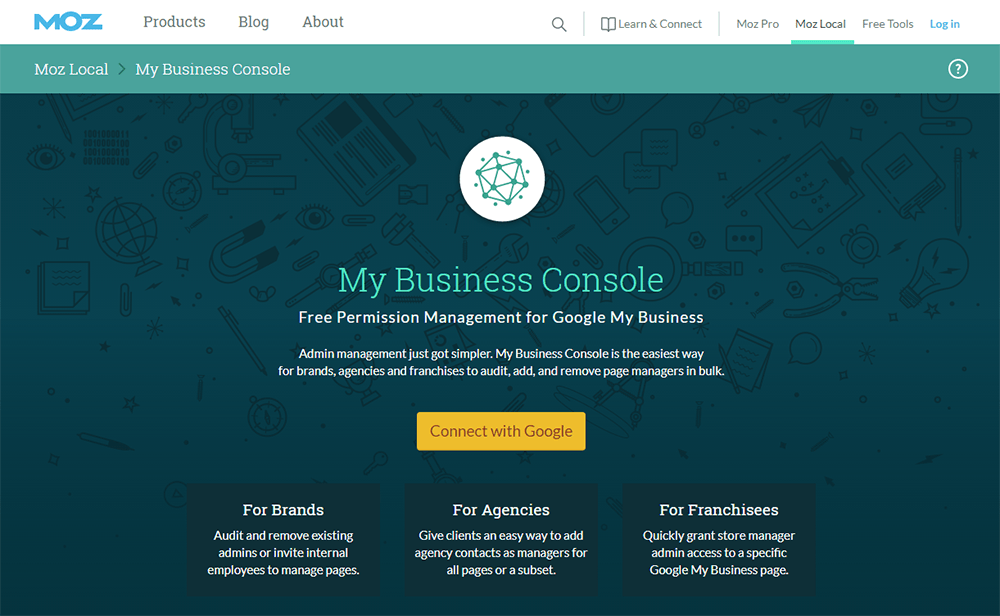 Moz Business Console