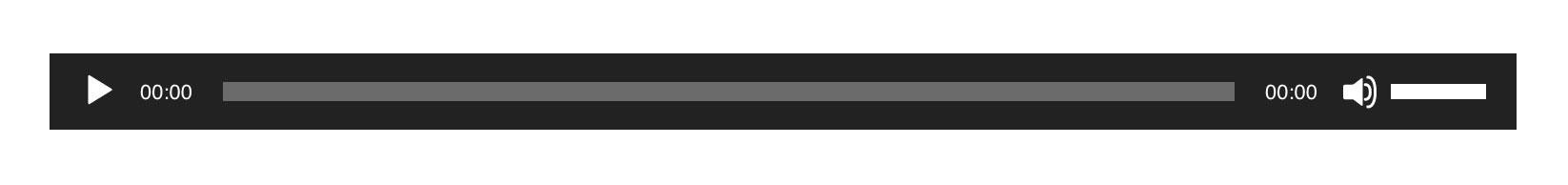 WordPress audio player example