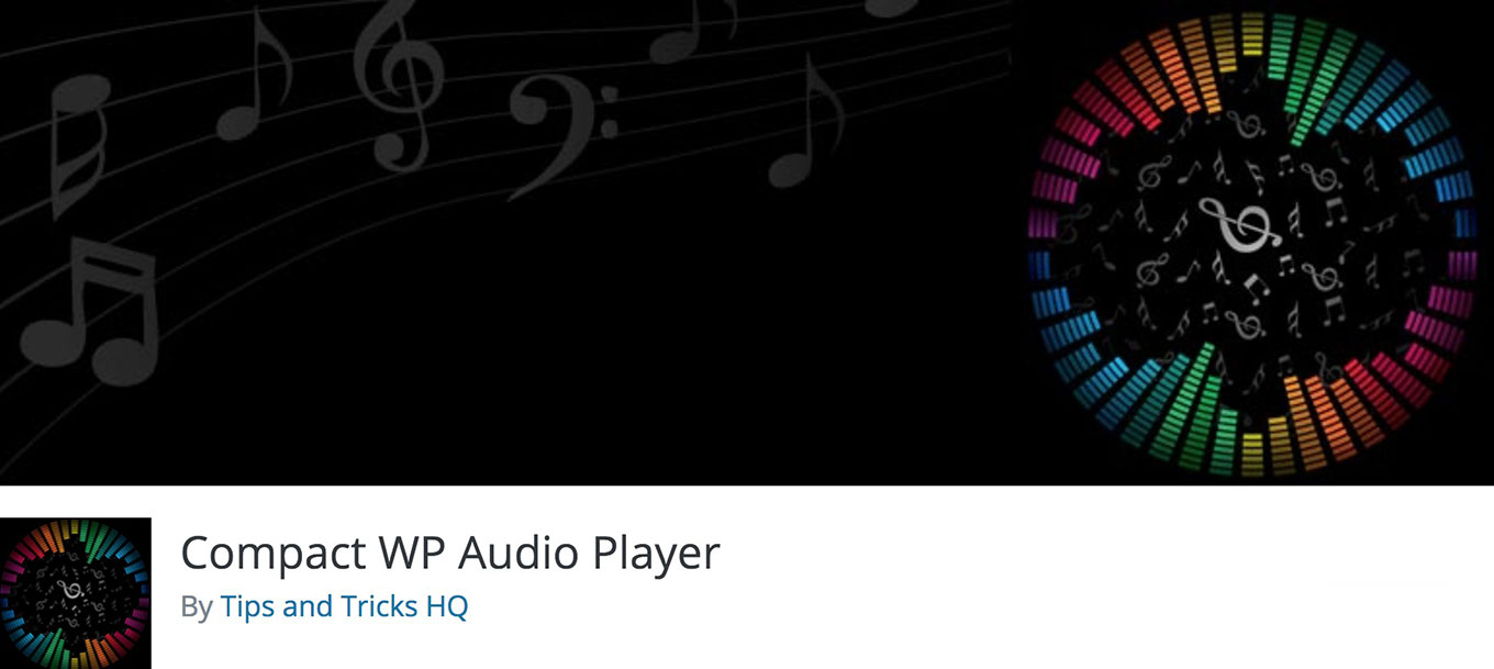 Screenshot of the Compact WP Audio Player
