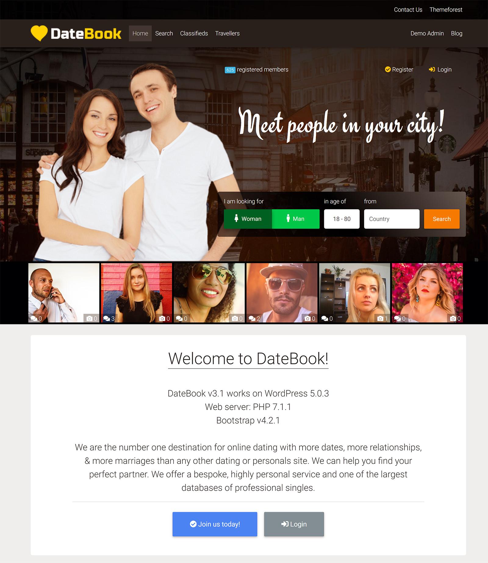 DateBook WordPress Theme