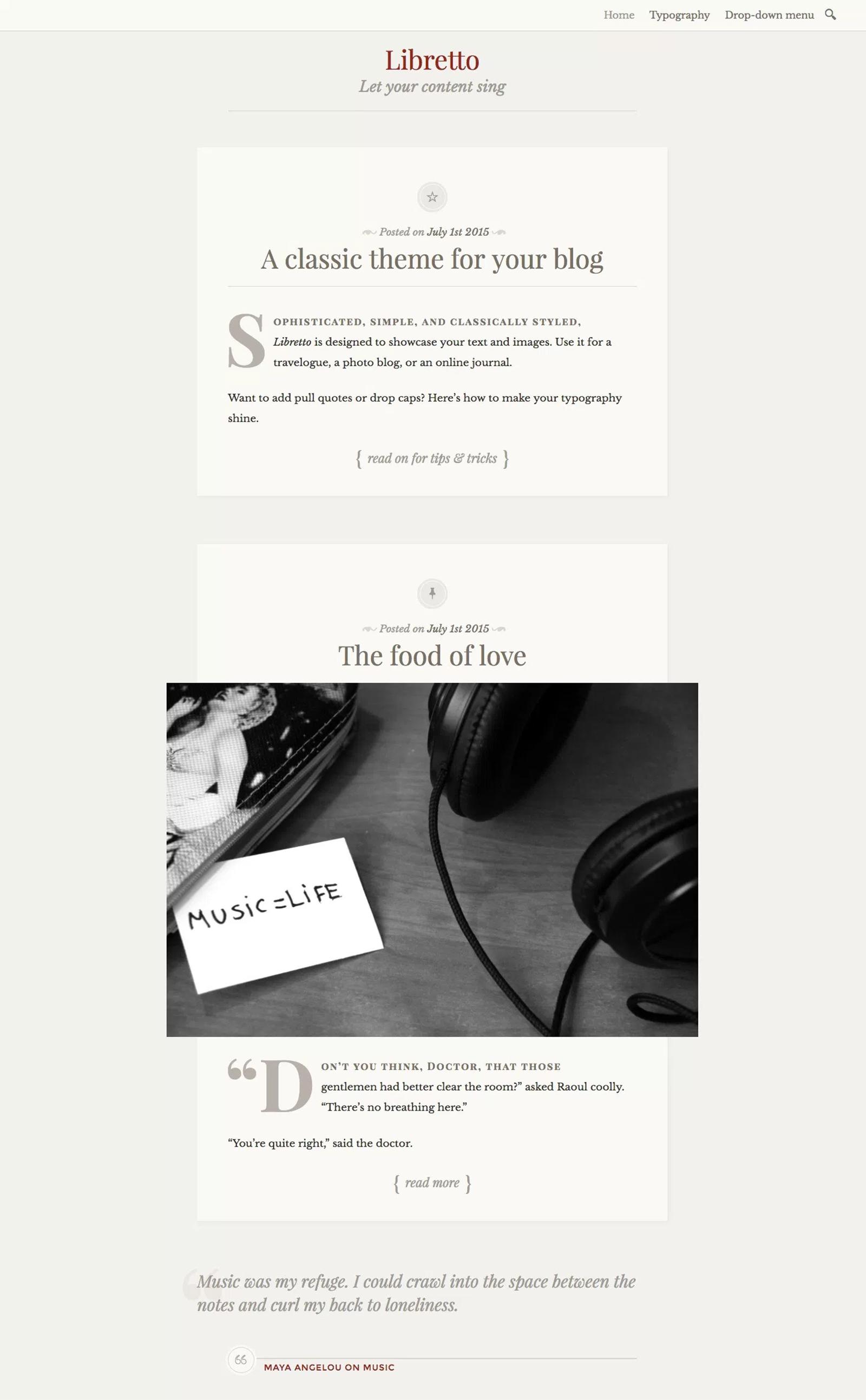 Libretto WordPress Theme