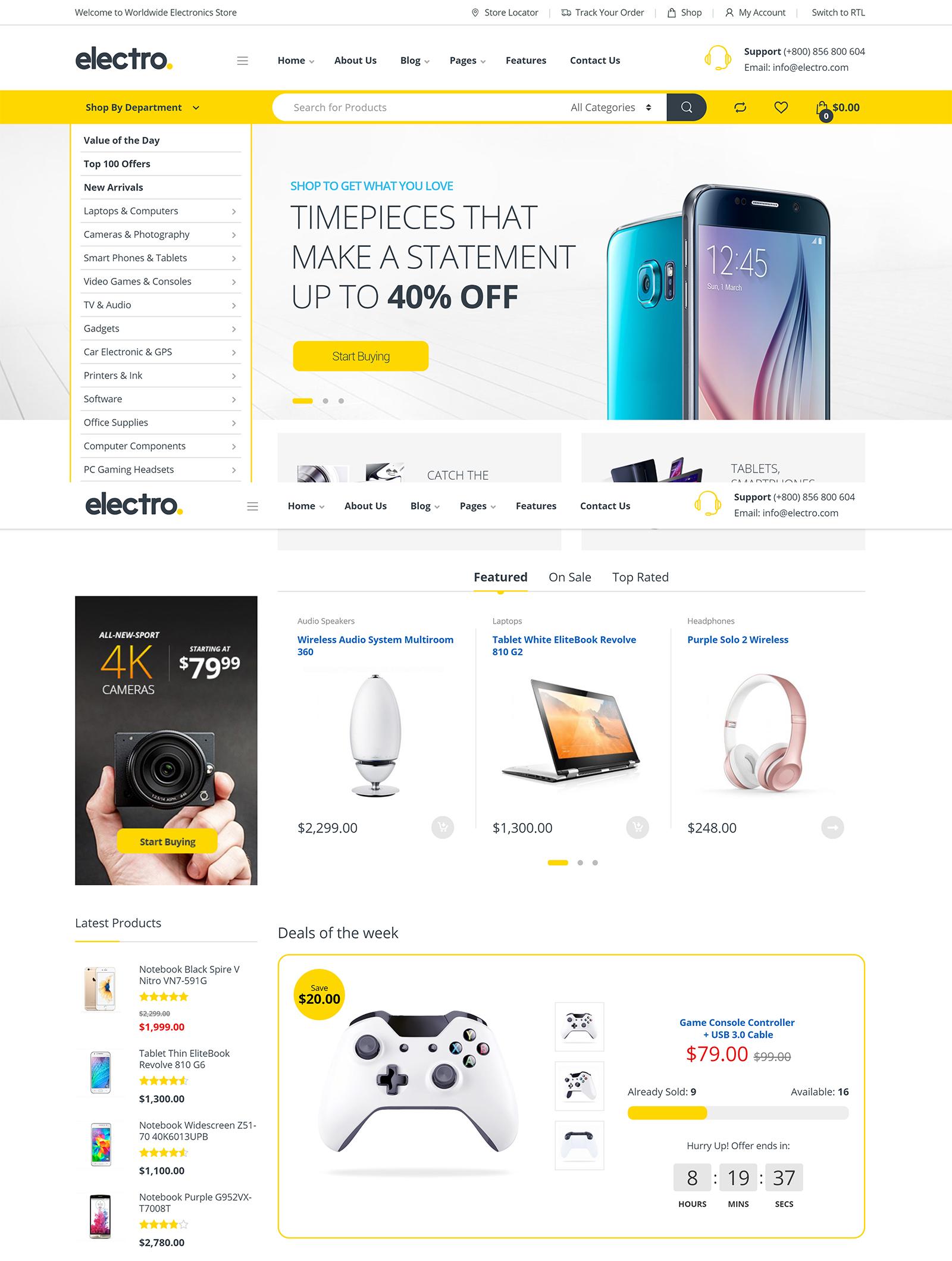 Electro Electronics Store WordPress Theme