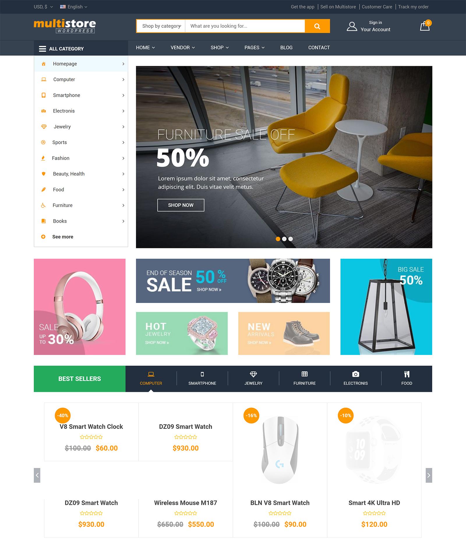 MultiStores WordPress Theme