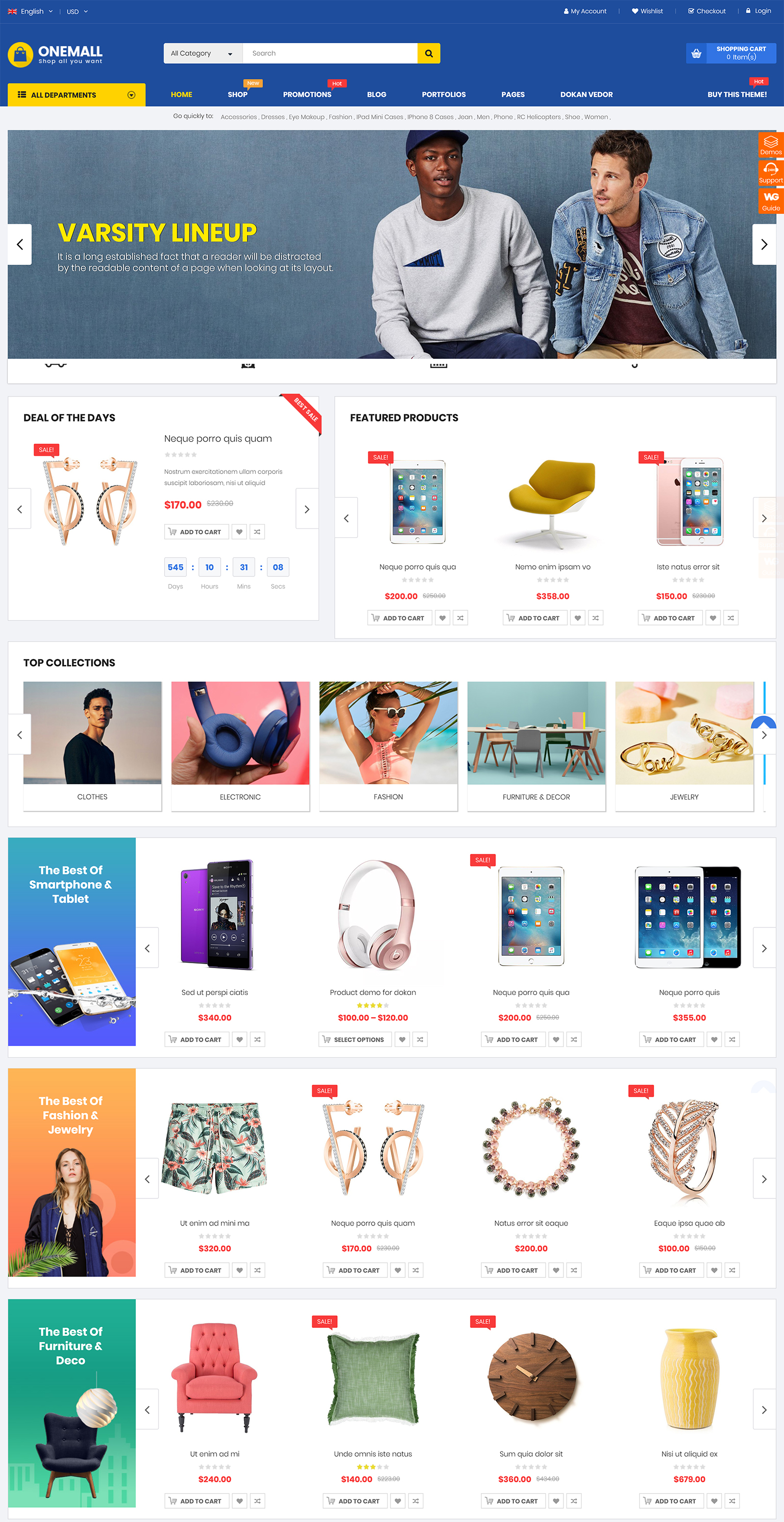 OneMall WordPress Theme