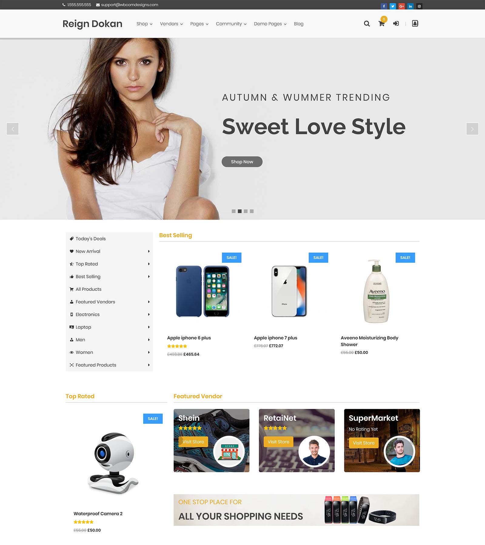 Storemate Dokan WordPress Theme