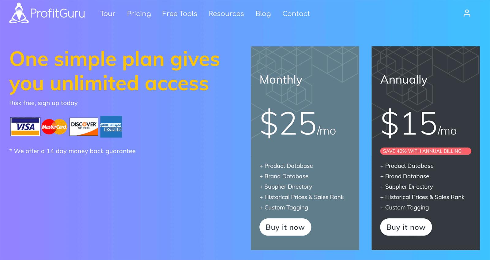 ProfitGuru Pricing