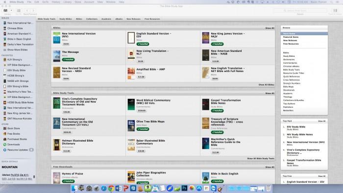 olive tree store inside bible study app