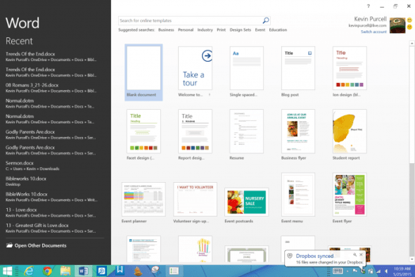On a Windows tablet, like the Surface Pro 3, just open the file inside the full version of Windows.