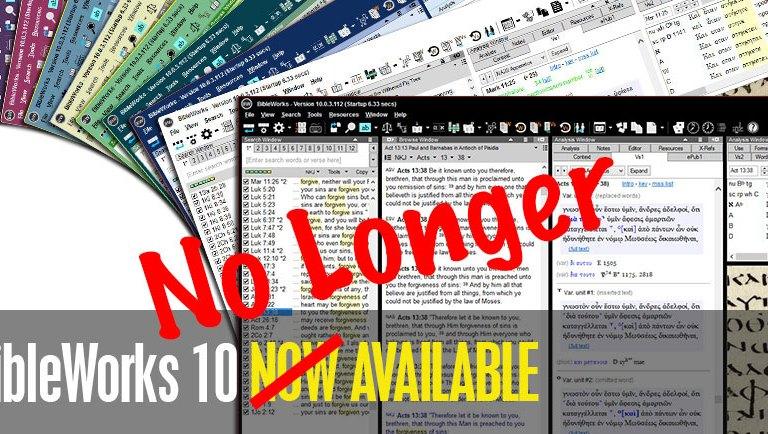 Alternatives to BibleWorks – Shutting Down June 15