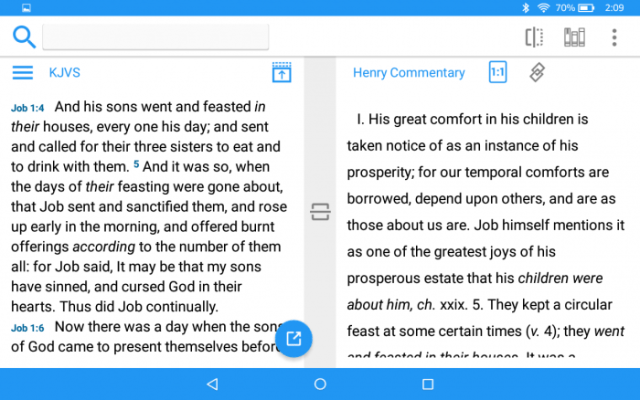 accordance mobile kindle bible app two windows