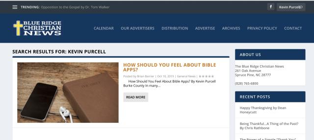 Blueridge Christian News